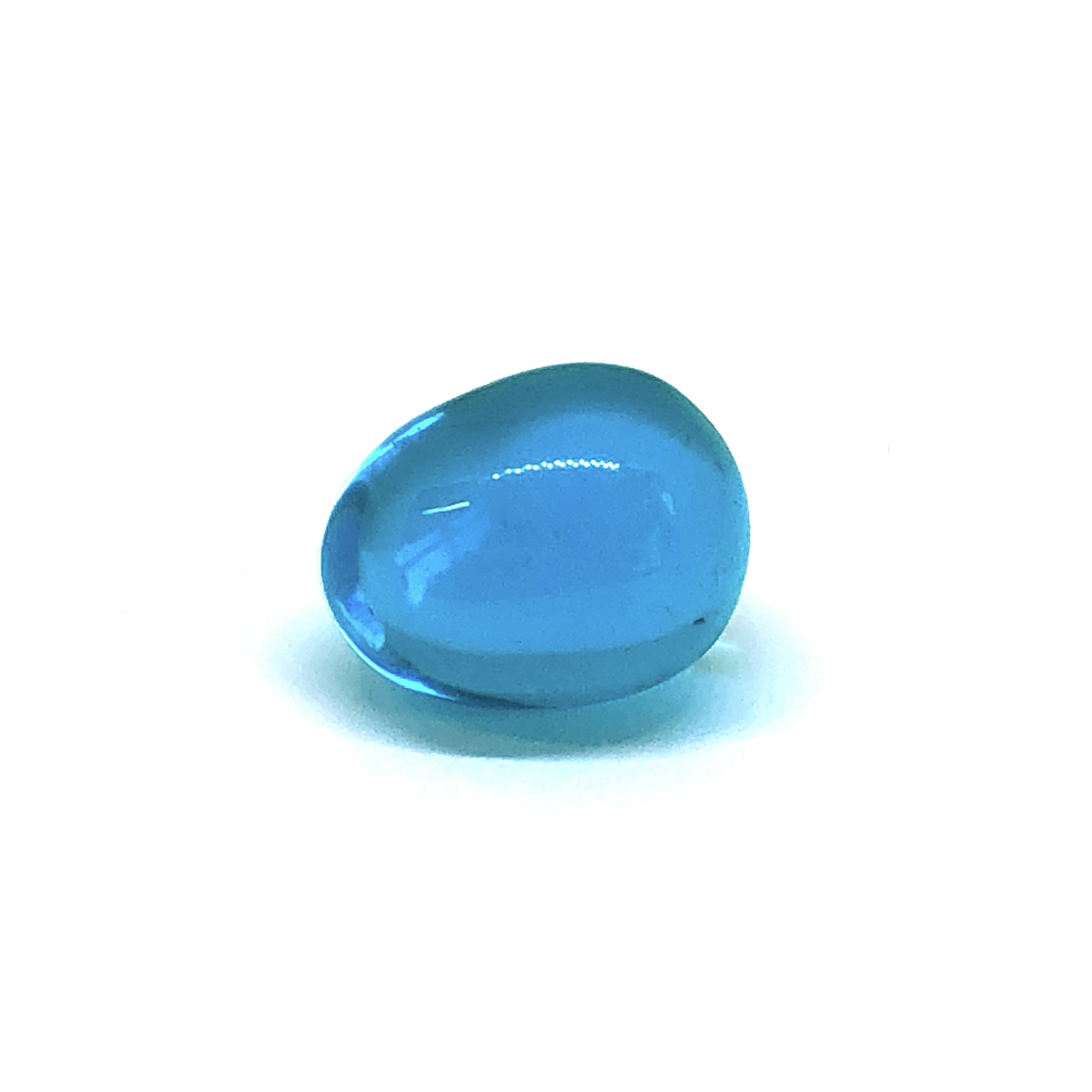 Blue glass egg, solid glass, 09811, egg, blue egg, glass, 20x15mm, jewelry making supplies, glass stones, b'sueboutiques, glass stone, beads, blue stone