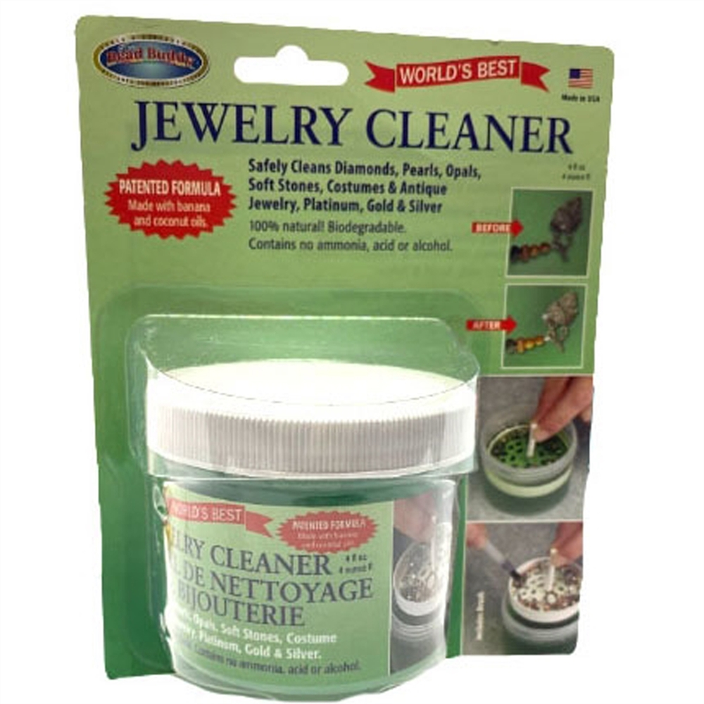 jewelry cleaner, 4 ounces, 100% Natural, 04345, biodegradable, patented formula, made with banana and coconut oil, natural cleaner, B'sue Boutiques, jewlery supplies