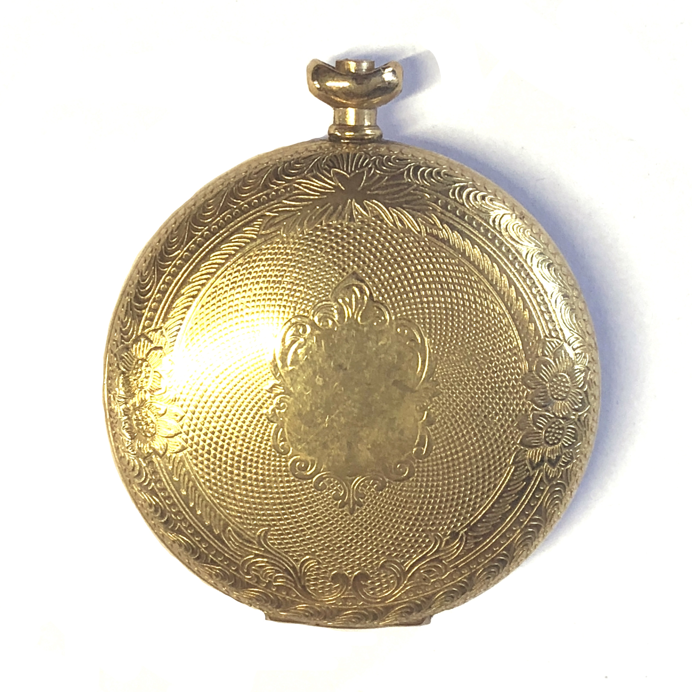 1928 pocket watch case, locket, 09256, gold plated, 43mm, floral design, vintage watch parts, watch parts, vintage jewelry supplies, jewelry making, B'sue Boutiques, 1928, gold, bezel, watch case