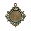 vintage pewter castings, B'sue by 1928, Victorian pendants, cameo mount, stone mount, weathered copper, nickel free finish, lead free pewter, vintage castings, aqua patina, made in the USA, vintage jewelry supplies, 1928 Jewelry, B'sue Boutiques, 01468
