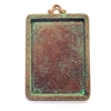 Picture Frame Pendant, Weathered Copper, 0256, lead free pewter, B'sue by 1928, mint green patina, framed mount, vintage jewelry supplies, pewter jewelry parts, nickel free finish, US made, 1928 Jewelry Company, designer jewelry, B'sue Boutiques