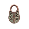 Victorian style padlock, pendant, victorian style lock stamping, lock, weathered copper pewter, rusted iron, 3d charm, vintage style, us made, nickel free, B'sue Boutiques, B'sue by 1928, lead free pewter, vintage supplies, jewelry making, 0257