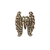 weathered copper pewter, filigree butterfly, 0271, lead free pewter, B'sue by 1928, 1928 Company, designer jewelry findings, vintage jewelry parts, 1928 Jewelry, plated pewter, filigree, B'sue Boutiques, US made, mint green patina