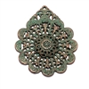 weathered copper, nickel free, filigree charms, lead free, pewter castings, cast pewter jewelry parts, vintage, 1928 Jewelry, B'sue Boutiques, B'sue by 1928, green patina, vintage charms, vintage jewelry findings, pewter, pewter jewelry, 0291