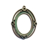 Victorian backless bezel, weathered copper, cameo mount, 25x18mm mount, B'sue by 1928, lead free pewter, pewter casting, cast jewelry parts, vintage, mount, plated jewelry castings, us made, 1928 Jewelry, B'sue Boutiques, 0579