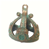 pewter crown pendant, weathered copper, 0652, 1928 Jewelry Company, pewter castings, crown pendant, recess crown pendant, 25 x 18mm mount, jewelry making supplies, vintage jewelry supplies, US made, nickel free, Bsue Boutiques, green patina