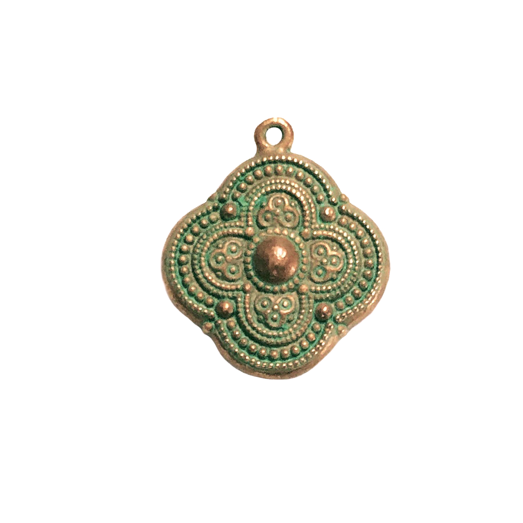 Victorian pendant drop, weathered copper, patina, lead-free pewter, 22mm, drop, pendant drop, B'sue by 1928, weathered copper pewter, vintage jewelry parts, pewter jewelry parts, nickel free, US made, 1928 Company, designer jewelry, B'sue Boutiques, 0657