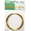 round memory wire, Gold Plate, 2.25 inch, bracelet wire, jewelry wire, craft wire, jewelry making, jewelry supplies, stainless steel memory wire, 12 loop wire, round wire, memory wire, vintage supplies, gold plate memory wire, jewelry wire, 01