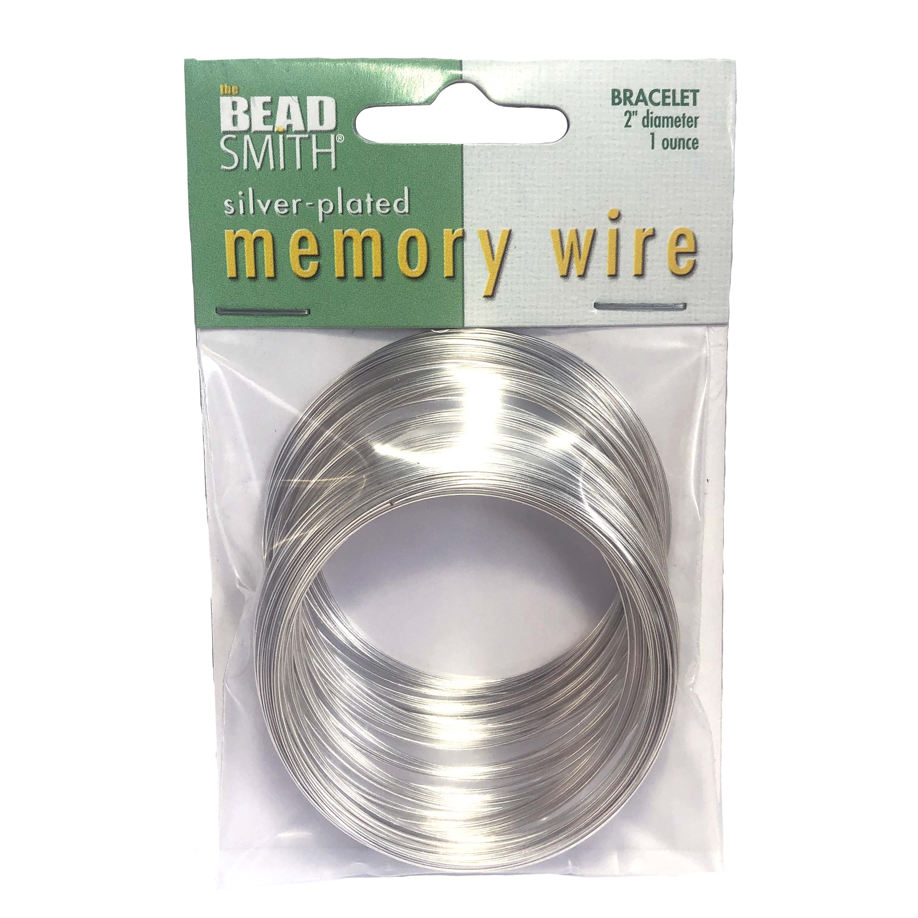 "memory wire, 1 ounce, 2"" diameter, wire, bracelet, bracelet making, beading, beading supplies, beaded bracelet making, silver wire, silverplated memory wire, jewelry supplies"