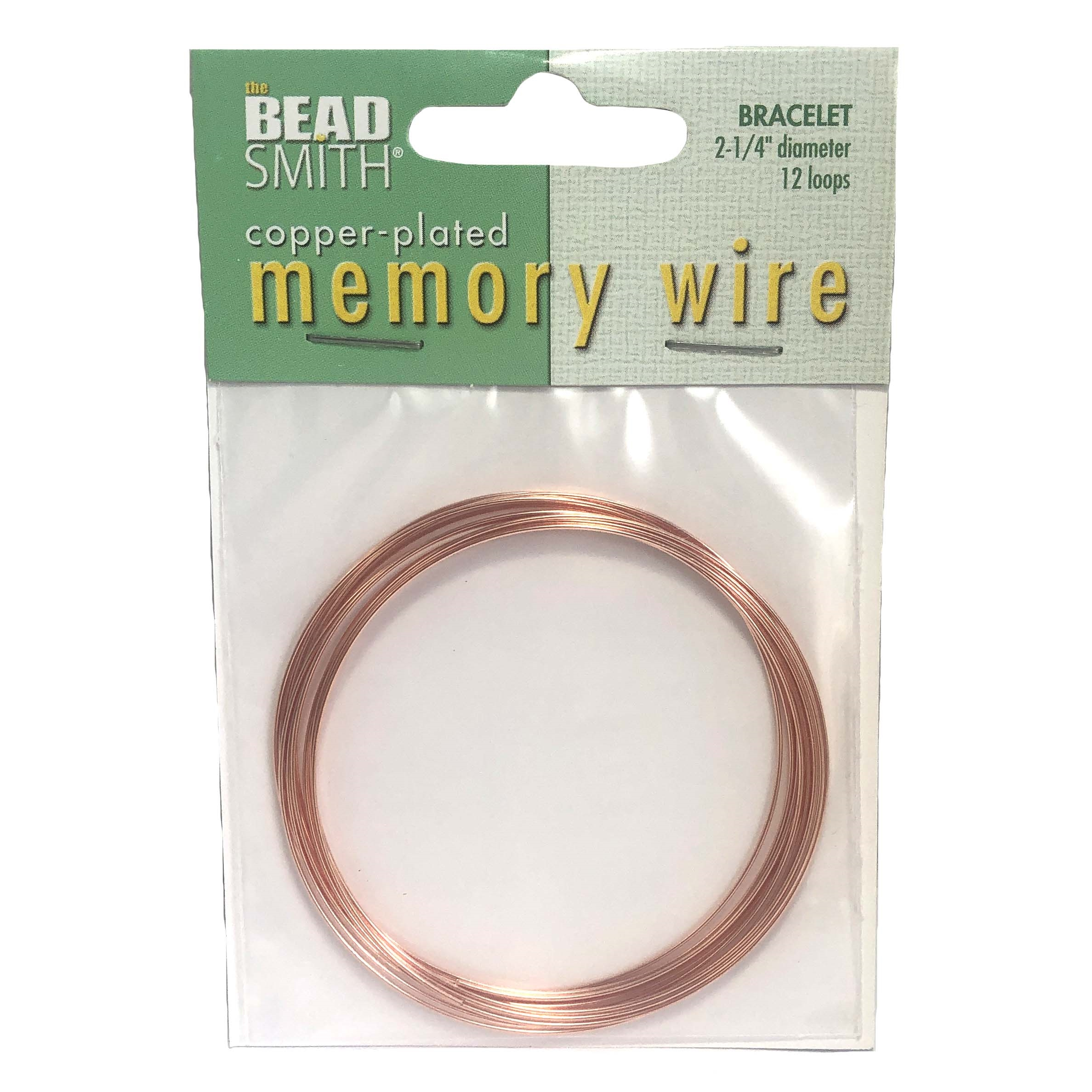 Round Memory Wire, Copper Plate, 2.25 inch, bracelet wire, jewelry wire, craft wire, jewelry making supplies, stainless steel memory wire, 12 loop wire, round wire, copper wire, bracelet making, 0134