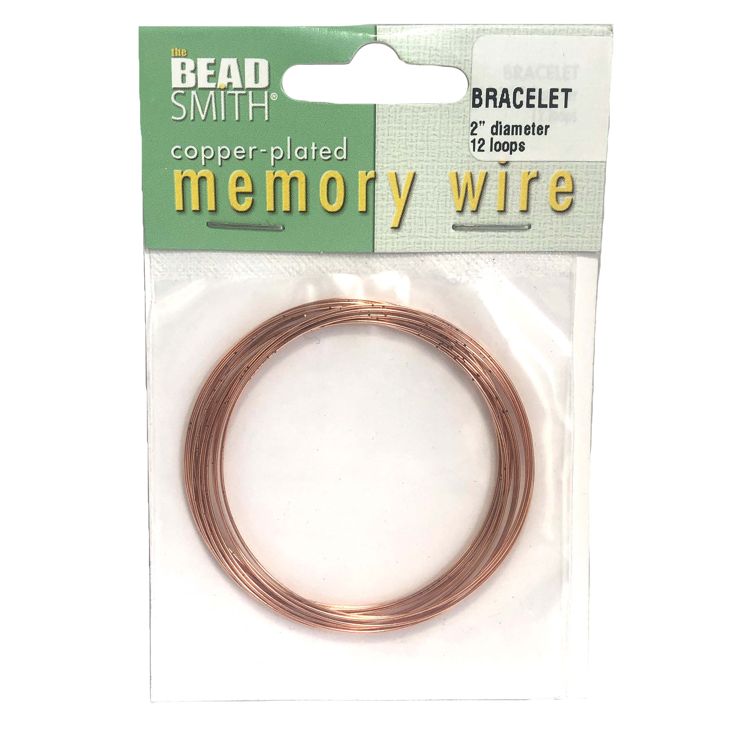Round Memory Wire, Copper Plate, 2 inch, bracelet wire, jewelry wire, craft wire, jewelry making supplies, stainless steel memory wire, 12 loop wire, round wire, copper wire, bracelet making, 0135