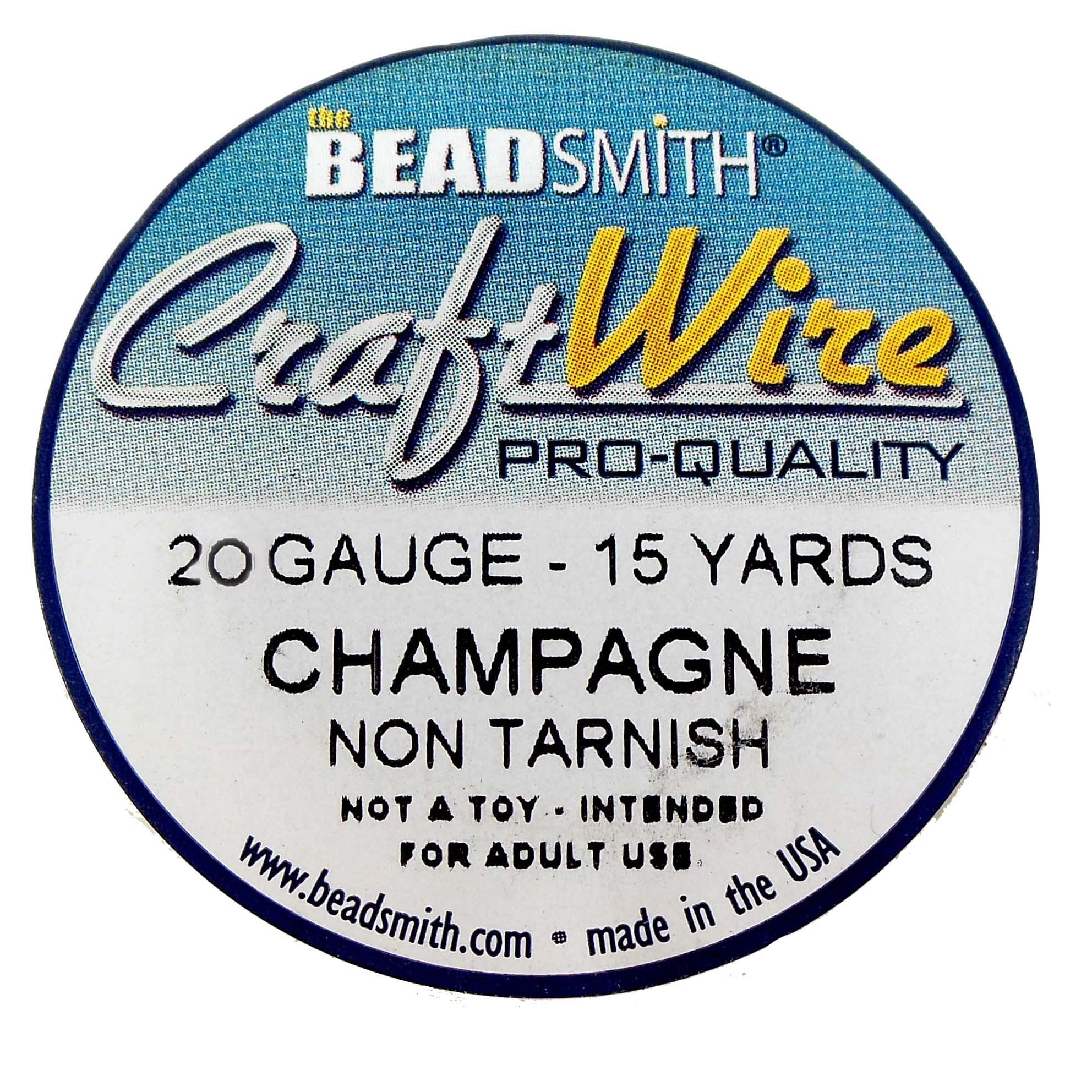 jewelry wire, champagne, 20 gauge, 01545, wire, craft wire, champagne gold, non tarnish, 6 yards