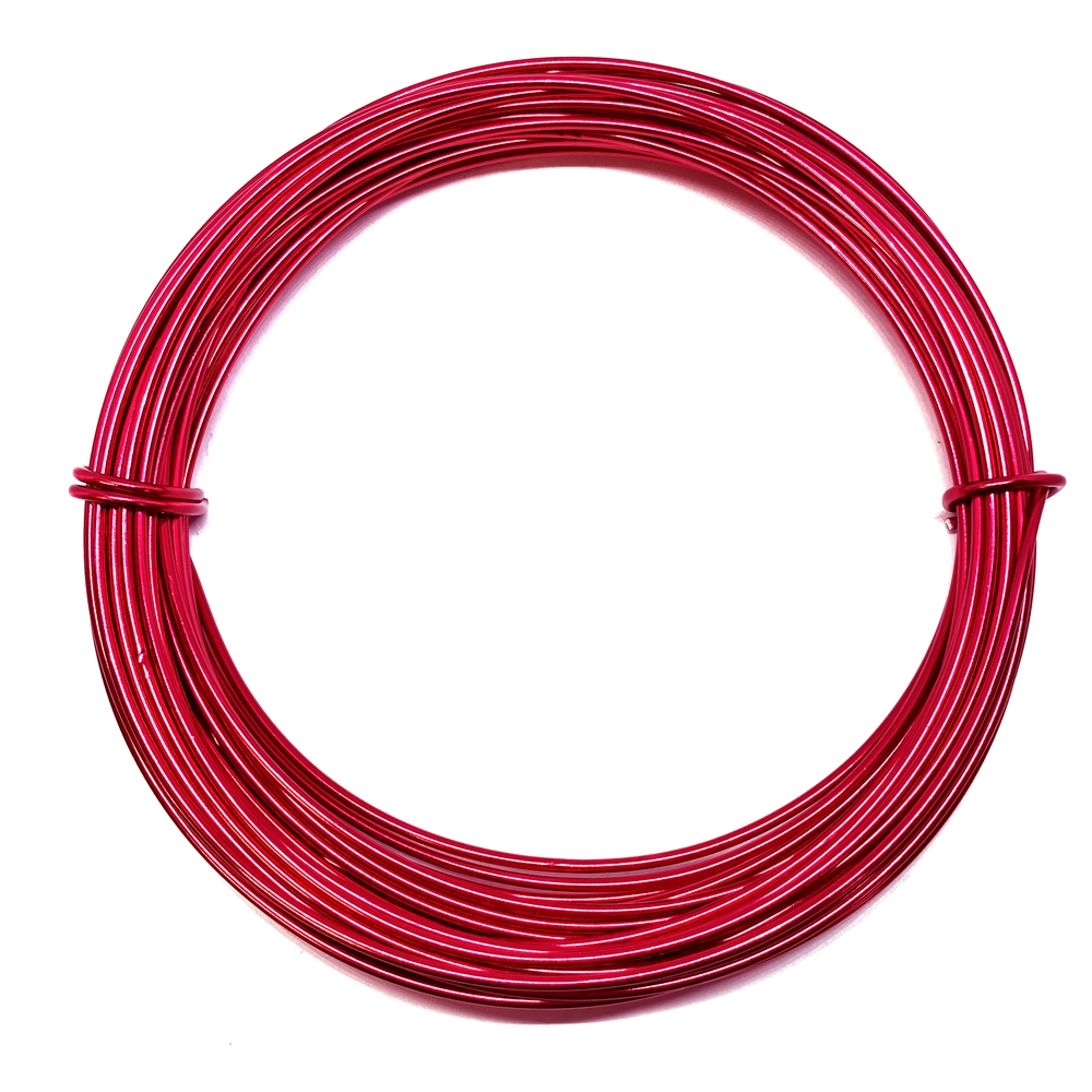 aluminum crafting wire, jewelry wire, 12 gauge, red, wire, craft wire, 39 feet, jewelry making, vintage supplies, jewelry supplies, red wire, us made, nickel free, B'sue Boutiques, 02073