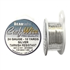 silver wire, jewelry wire, bead smith, 24 gauge, silver plate, silver, wire, craft wire, non tarnish, 10 yards, wire jewelry, jewelry making, vintage supplies, jewelry supplies, bead smith silver wire, B'sue Boutiques, pro- quality, spool, 02307