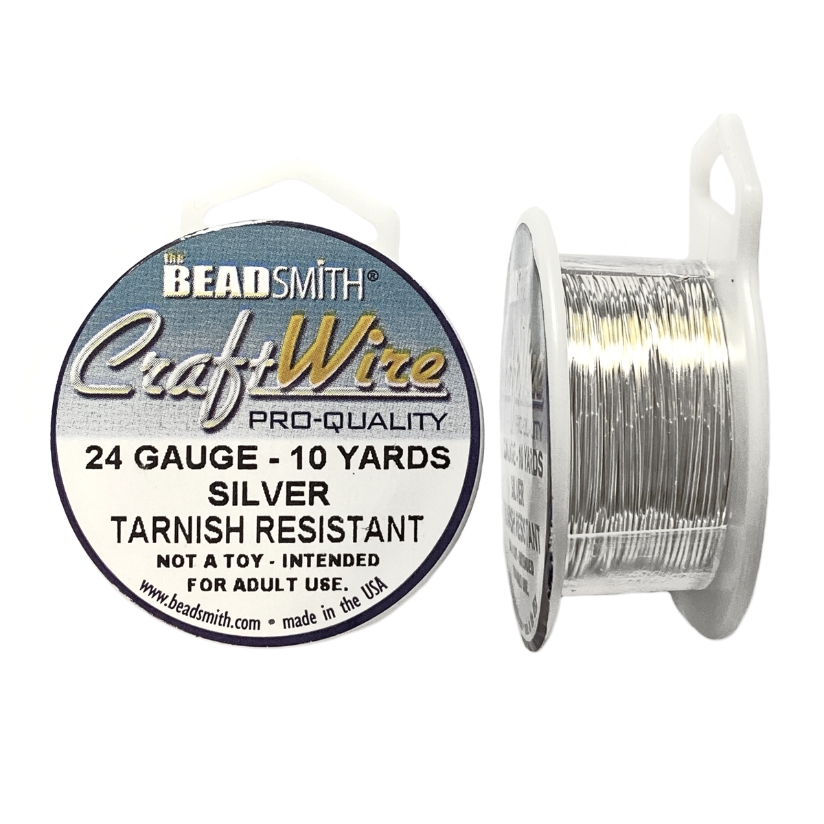 Bead Smith Silver Wire 24 Gauge Craft Wire Silver Plate Jewelry Wire Non Tarnish Wire Jewelry Making