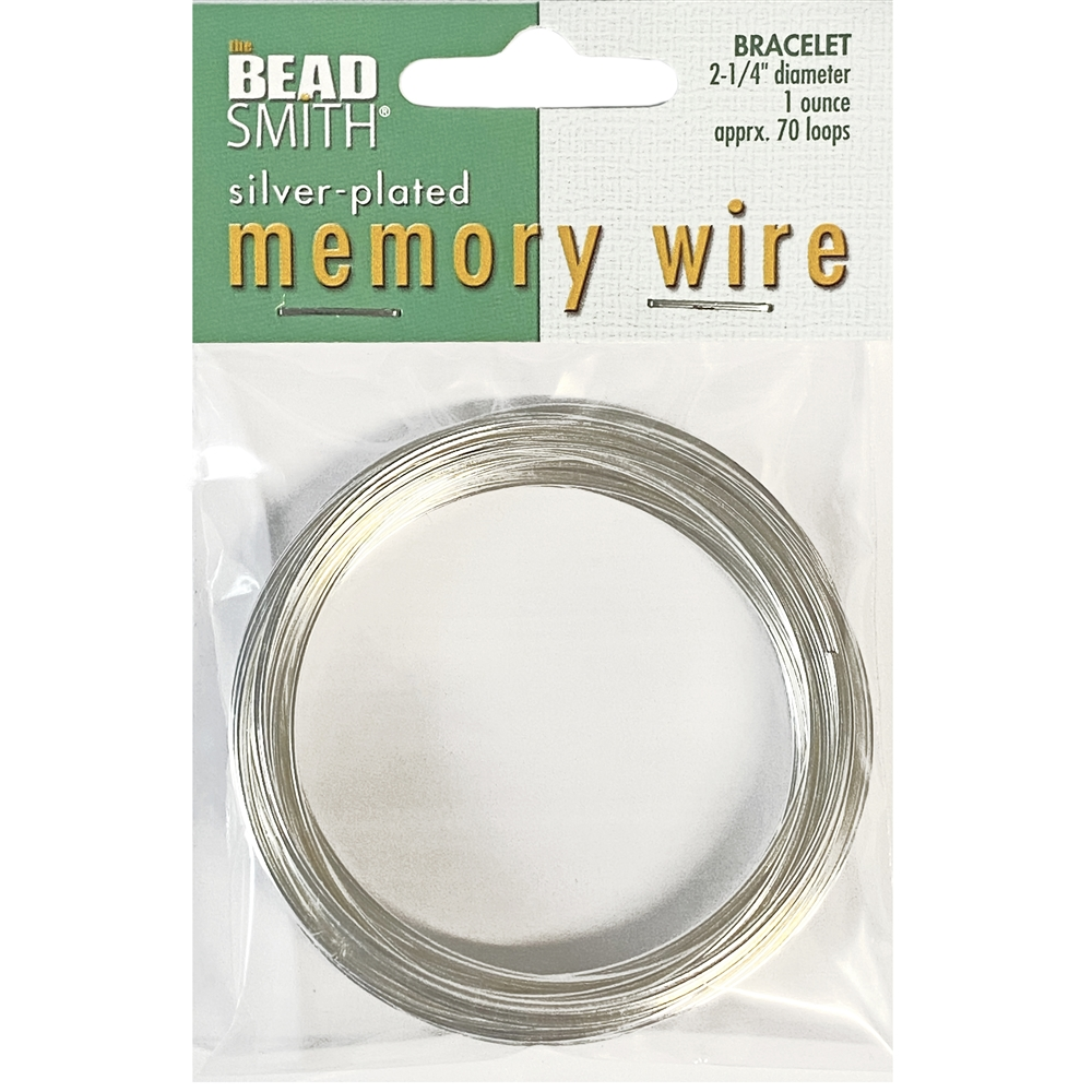 round memory wire, silver plate, 2 1/4 inch, bracelet wire, jewelry wire, craft wire, jewelry making, stainless steel memory wire, 70 loop wire, round wire, vintage supplies, jewelry supplies, wire supplies, bracelet wire, silver wire, 02838