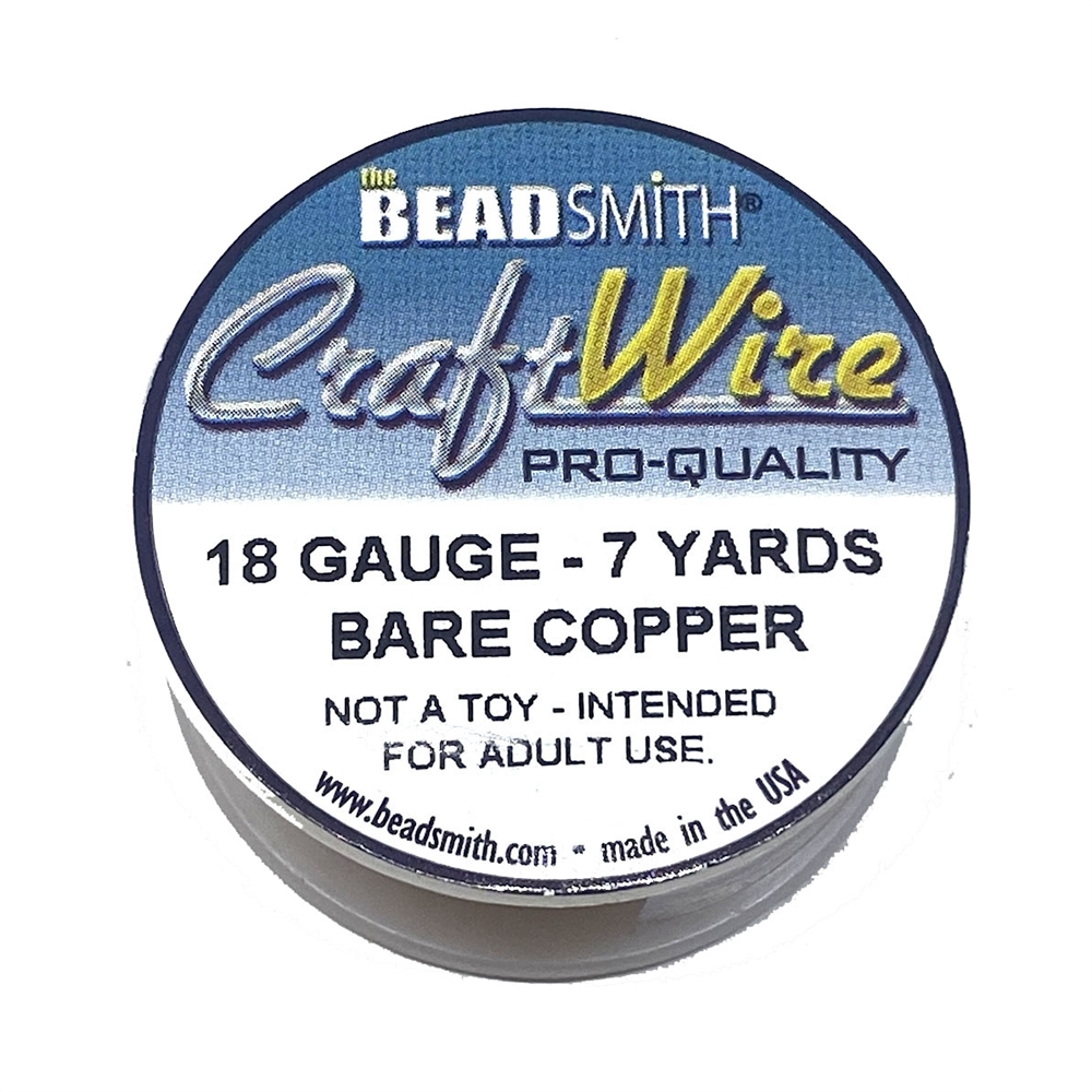 bare copper wire, jewelry wire, bead smith, 18 gauge, bare copper, wire, craft wire, 7 yards, wire jewelry, jewelry making, vintage supplies, jewelry supplies, bead smith, B'sue Boutiques, pro- quality, spool, 03177
