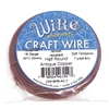 craft wire, 18 gauge, half round, antique copper, 03256, soft tempered, tarnish resistant, 7 yards, copper wire, crafting wire, wire, B'sue Boutiques, jewelry supplies