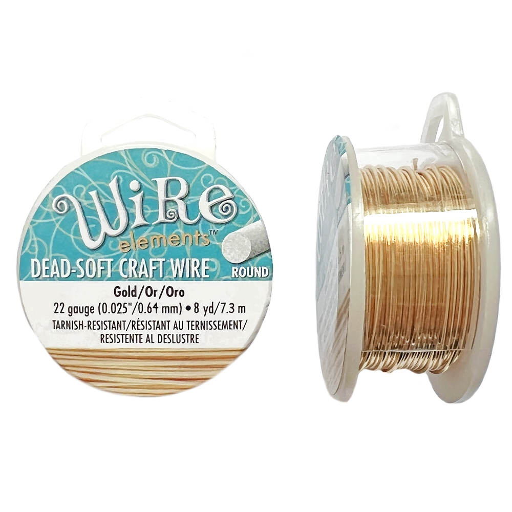 bead smith 22 gauge gold wire, craft wire, jewelry wire, gold wire, 22 gauge wire, wire, 8 yards wire, jewelry making wire, wire supplies, jewelry supplies, jewelry making, vintage supplies, B'sue Boutiques, jewelry findings, spool wire, 03971