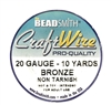 bronze wire, jewelry wire, bead smith, 20 gauge, bronze, wire, craft wire, non tarnish, 10 yards, wire jewelry, jewelry making, vintage supplies, jewelry supplies, bead smith bronze wire, B'sue Boutiques, pro- quality, spool, us made, nickel free, 03973