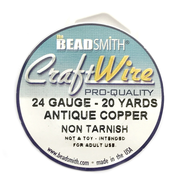 antique copper wire, jewelry wire, bead smith, 24 gauge, antique ...