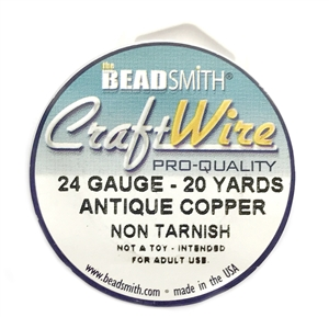 antique copper wire, jewelry wire, bead smith, 24 gauge, antique copper, wire, craft wire, non tarnish, 20 yards, wire jewelry, jewelry making, vintage supplies, jewelry supplies, bead smith antique copper wire, B'sue Boutiques, pro- quality, spool, 03975