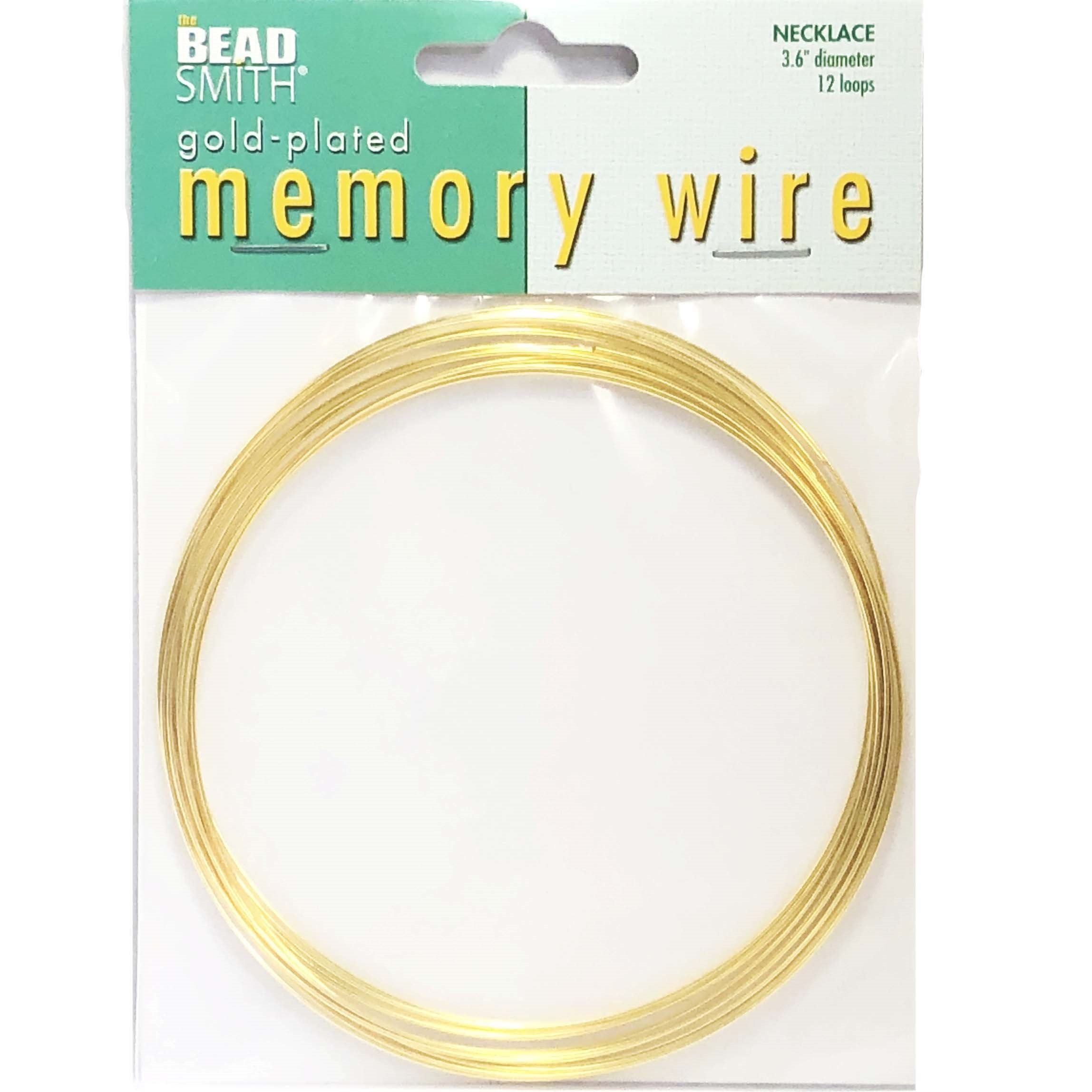 Round Memory Wire, Gold Plate, 045, 36 inch, necklace wire, jewelry wire, craft wire, jewelry making supplies, stainless steel memory wire, 12 loop wire, round wire