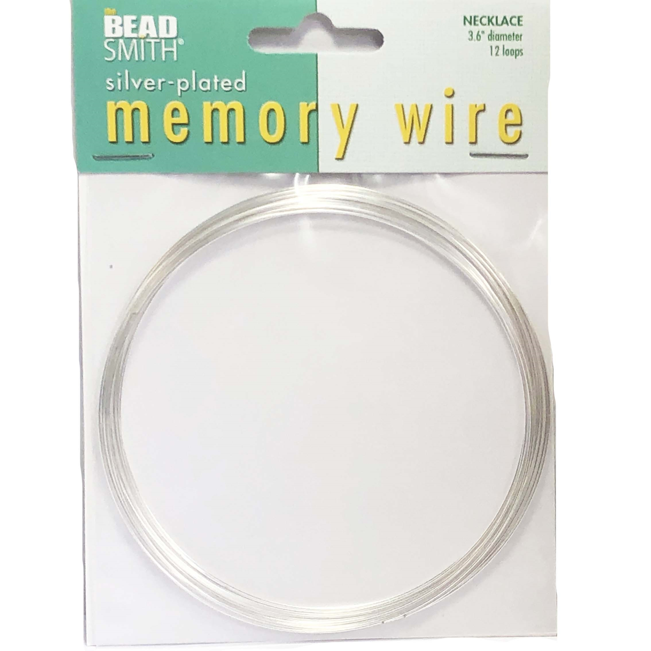 Round Memory Wire, Silver Plate, 046, 36 inch, necklacewire, jewelry wire, craft wire, jewelry making supplies, stainless steel memory wire, 12 loop wire, round wire