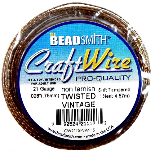 Bead Smith, 21 Gauge, Twisted Wire, Vintage