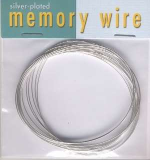 Oval Memory Wire, silverplate