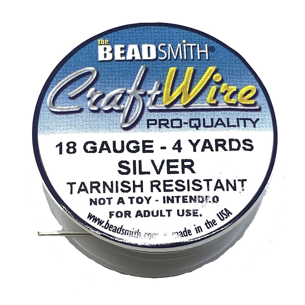 Bead Smith 18 Gauge Silver Craft Wire