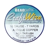 antique copper wire, jewelry wire, bead smith, 18 gauge, antique copper, wire, craft wire, non tarnish, 7 yards, wire jewelry, jewelry making, vintage supplies, jewelry supplies, bead smith antique copper wire, B'sue Boutiques, pro- quality, spool, 05383
