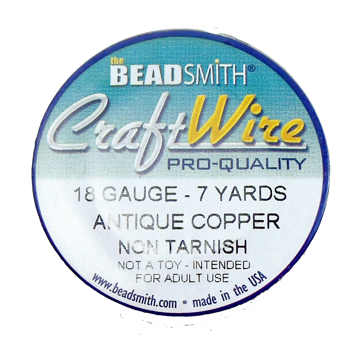 antique copper wire, jewelry wire, bead smith, 18 gauge, antique ...