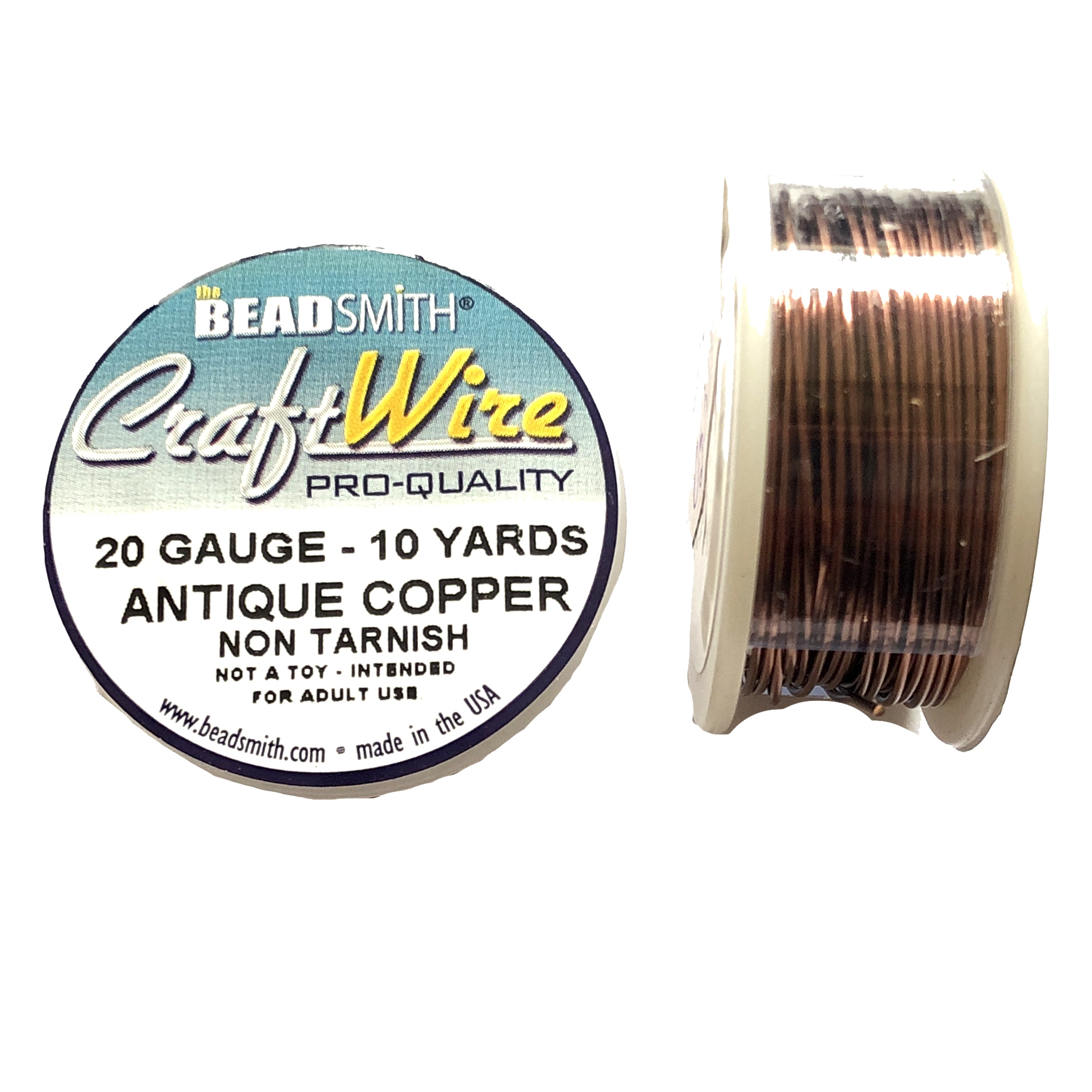 antique copper wire, jewelry wire, bead smith, 20 gauge, antique copper, wire, craft wire, non tarnish, 10 yards, wire jewelry, jewelry making, vintage supplies, jewelry supplies, bead smith antique copper wire, B'sue Boutiques, pro- quality, spool, 05387