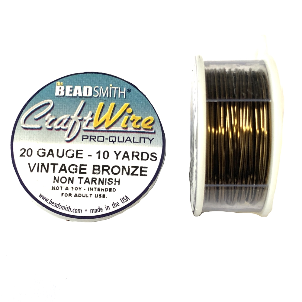 Bead Smith 20 Gauge Vintage Bronze Craft Wire