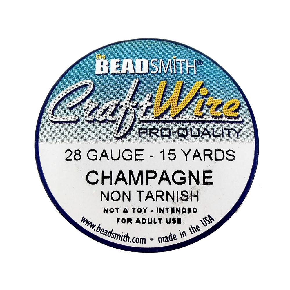 jewelry wire, champagne, 28 gauge