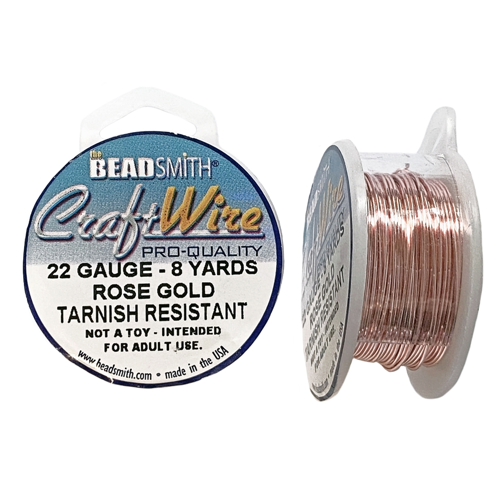 Bead Smith 22 Gauge Rose Gold Craft Wire