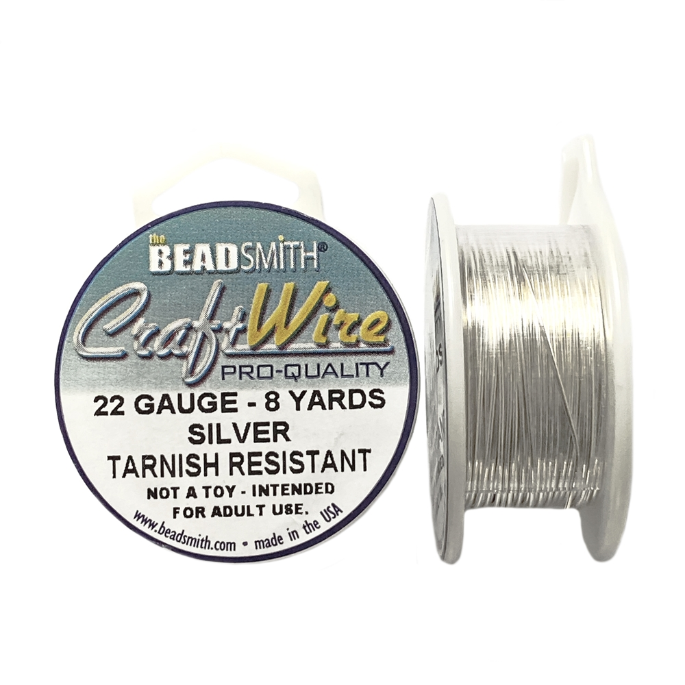 bead smith 22 gauge silver wire, silver wire, 22 gauge, jewelry wire, jewelry making wire, vintage supplies, jewelry supplies, wire supplies, wire jewelry, 22 gauge wire, silver wire, 22 gauge wire, B'sue Boutiques, craft wire, tarnish-resistant, 05398