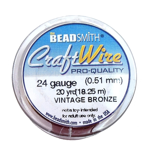 Bead Smith 24 Gauge Vintage Bronze Craft Wire