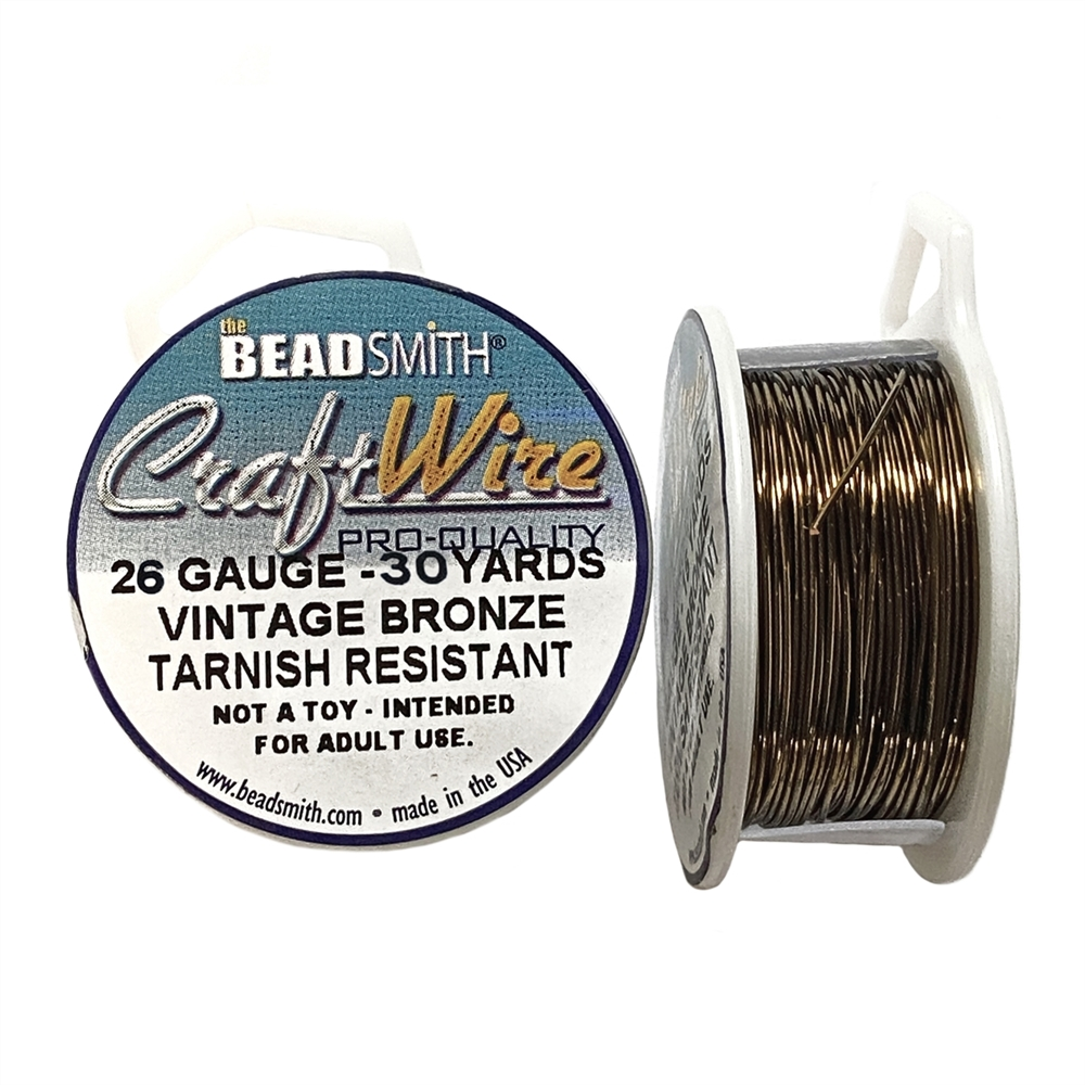 bead smith 26 gauge vintage bronze wire, wire, craft wire, jewelry wire, 26 gauge wire, vintage bronze wire, jewelry making wire, vintage supplies, jewelry supplies, jewelry making, B'sue Boutiques, jewelry findings, wire supplies, 05407