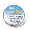 Bead Smith 28 Gauge Antique Copper Craft Wire