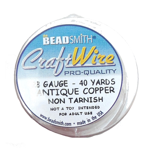 jewelry wire, 28 gauge, antique copper, 05415, jewelry wire, jewelry making wire, vintage jewelry supplies, US made jewelry supplies, brass jewelry parts, bsueboutiques, beading supplies