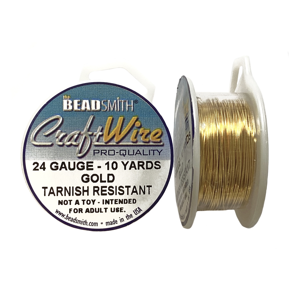 craft wire, jewelry wire, 24 gauge, gold