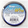 craft wire, 18 gauge, half round vint bronze