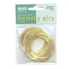 Round Memory Wire, Gold Plate, 0852, 1.75 inch, gold bracelet wire, jewelry wire, craft wire, jewelry making supplies, gold plated stainless steel memory wire, 1 ounce, round wire