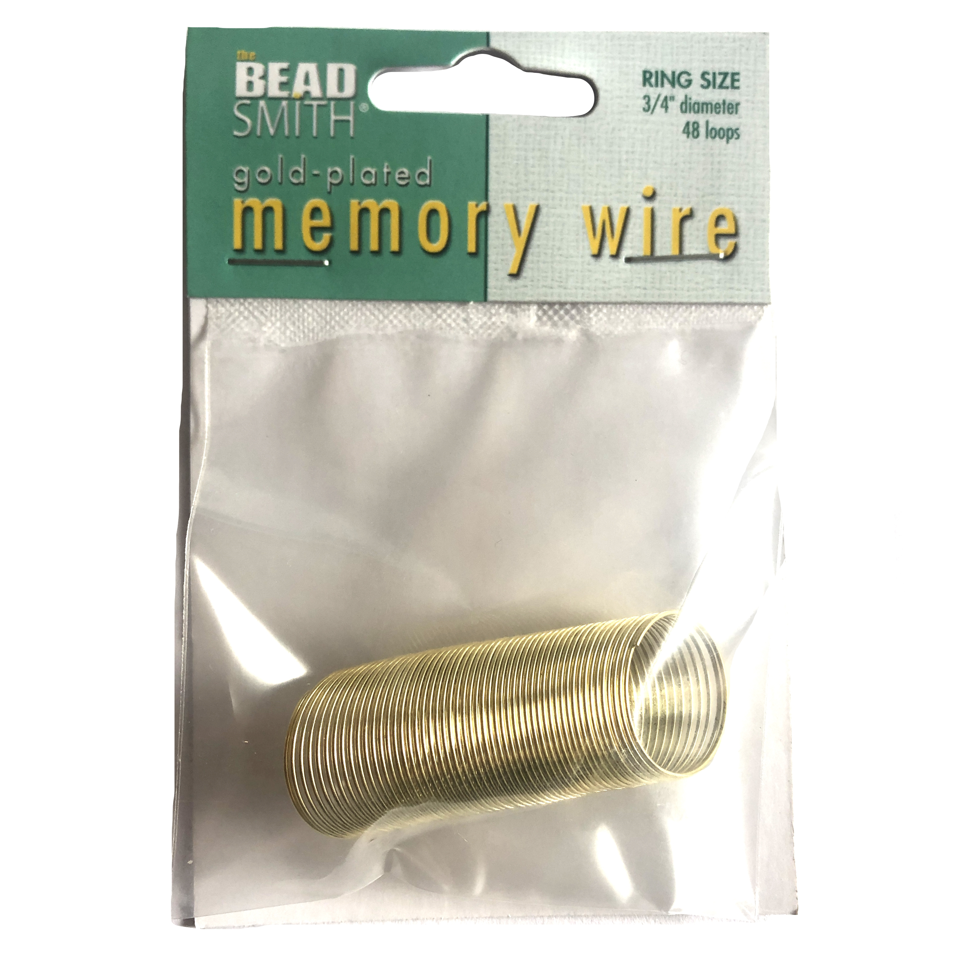 Round Memory Wire, Gold Plate, 0854, 1.75 inch, gold ring wire, jewelry wire, craft wire, jewelry making supplies, gold plated stainless steel memory wire, 1 ounce, round wire