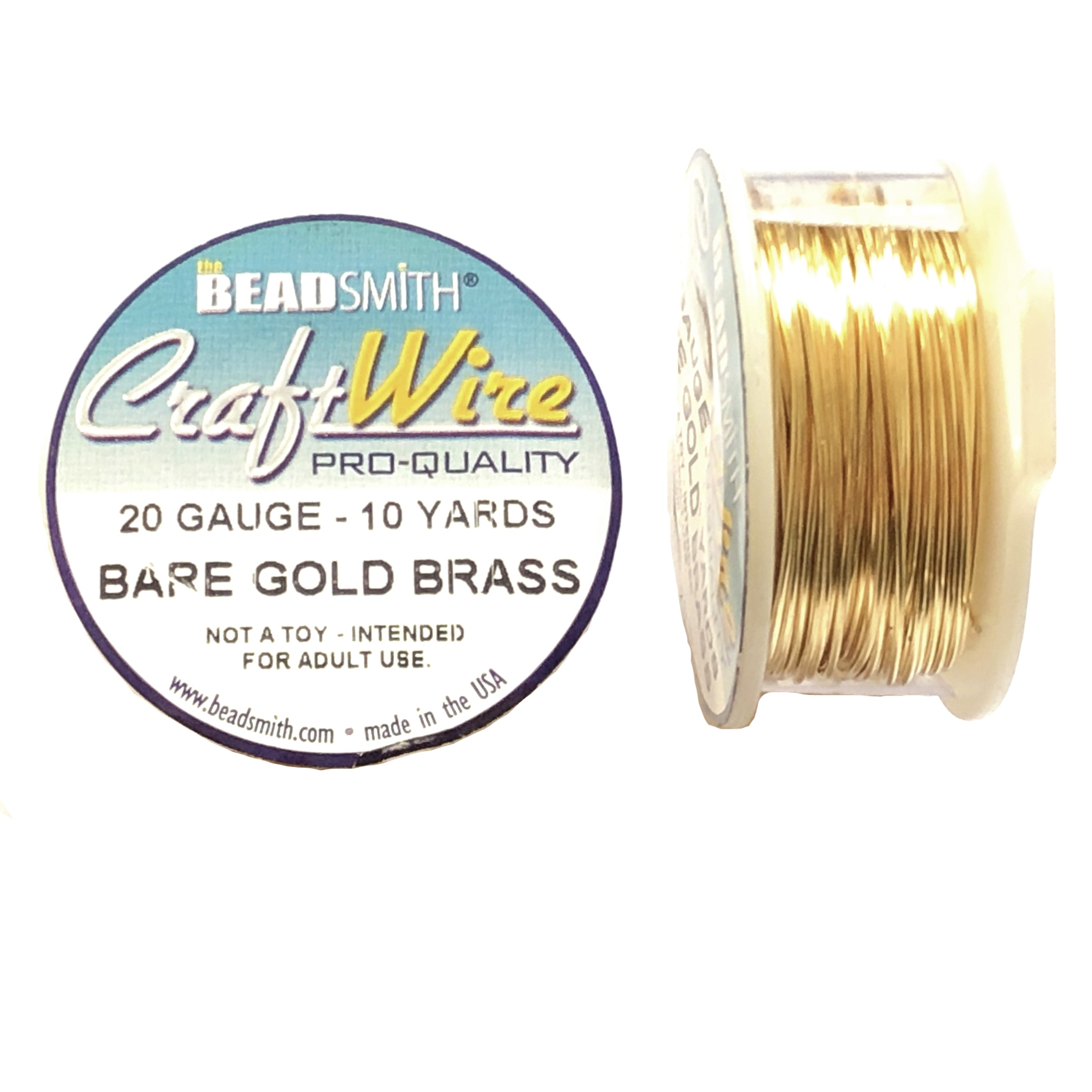 bare gold brass wire, jewelry wire, bead smith, 20 gauge, antique gold, wire, craft wire, non tarnish, 10 yards, wire jewelry, jewelry making, vintage supplies, jewelry supplies, bead smith wire, B'sue Boutiques, pro- quality, spool, 09797