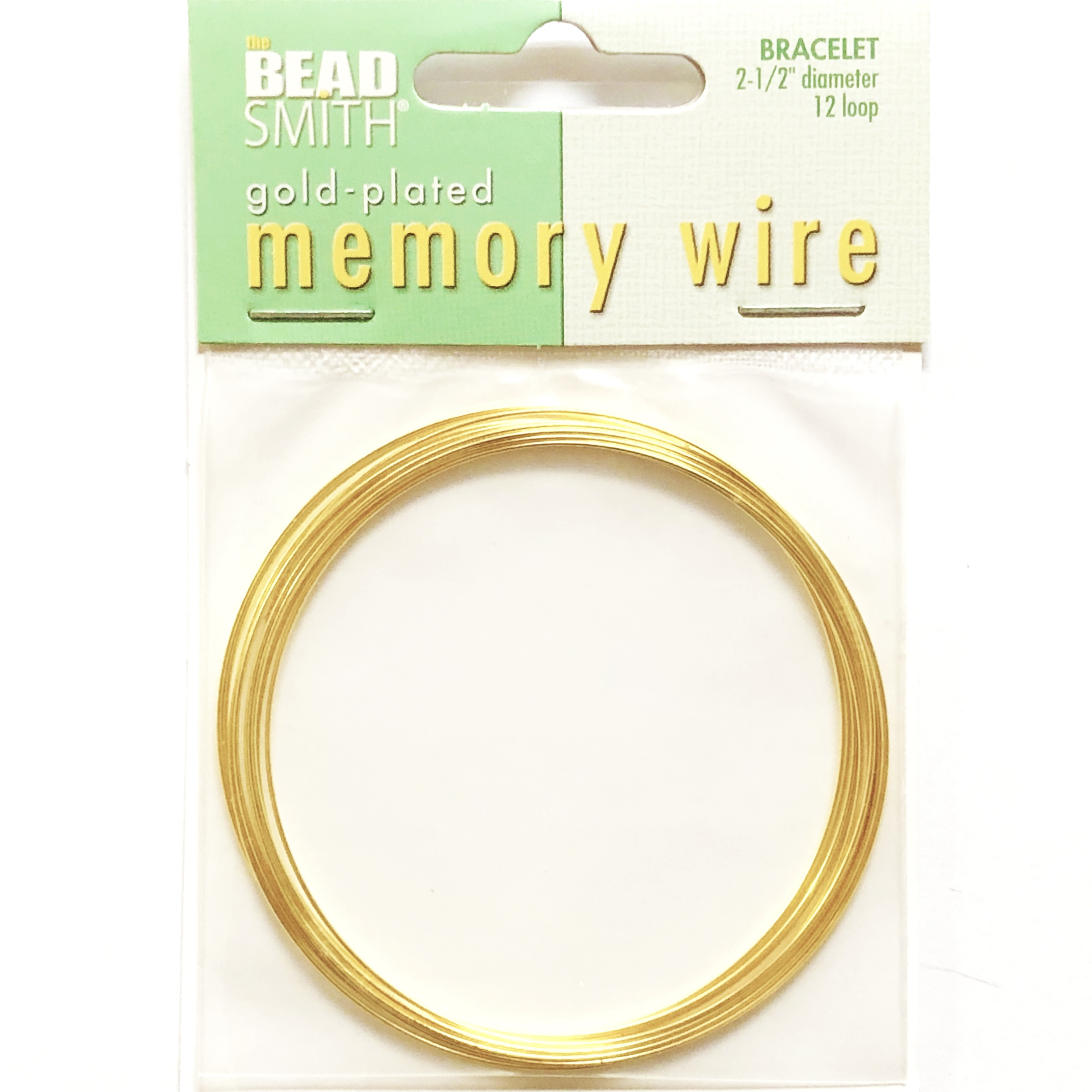 Round Memory Wire, Gold Plate, 09801, 2.5 inch, bracelet wire, jewelry wire, craft wire, jewelry making supplies, stainless steel memory wire, 12 loop wire, round wire