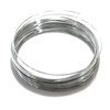 Round Memory Wire, Shiny Silvertone, 09803, 2.25 inch, bracelet wire, jewelry wire, craft wire, jewelry making supplies, stainless steel memory wire, 30 loop wire, round wire