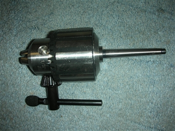NEW 1/2 CAPACITY DRILL CHUCK+KEY WITH #0 TAPER SHANK FOR DUNLAP CRAFTSMAN 109 MODEL LATHES.